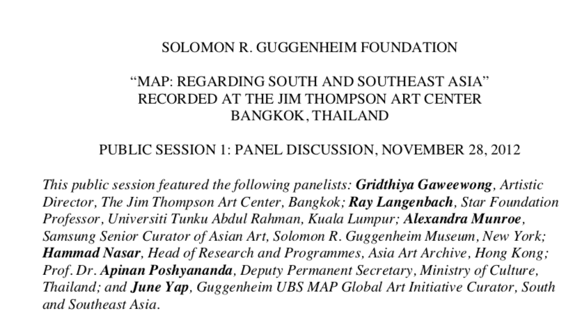 Map: Regarding South and Southeast Asia (The Jim Thompson Art Center)