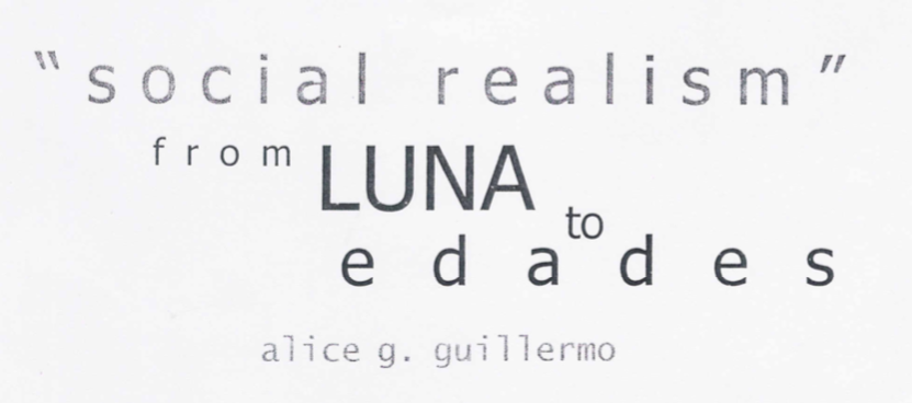 """Social Realism"" from Luna to Edades"